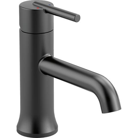 Delta 559LF-LPU Trinsic Single Hole Bathroom Faucet with Option Base Plate -
