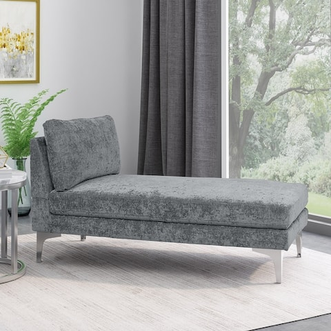 """Beamon Contemporary Fabric Chaise Lounge by Christopher Knight Home - 69.00"""" L x 29.00"""" W x 30.00"""" H"""