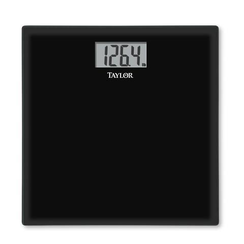 Taylor 75584192B Glass Digital Bath Scale, Black