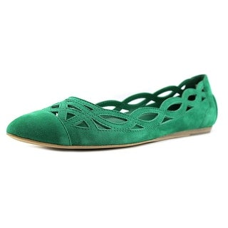Tod's Ballerina Pointed Toe Suede Flats