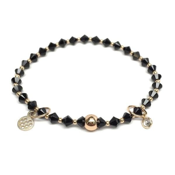 "Black Crystal Emily 7"" Bracelet"