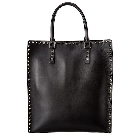 Valentino Rockstud Leather Tote - NoSize