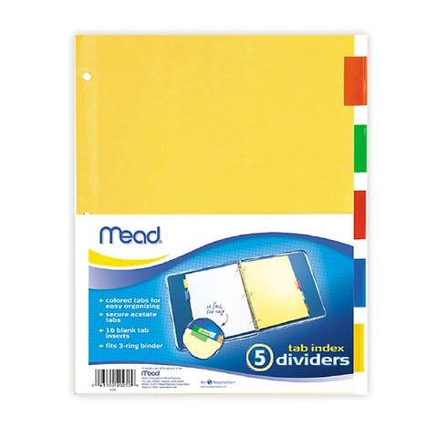 "Mead 20250 Tab Index Divider, 11"" x 9"""