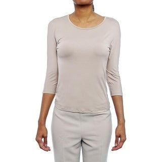 Max Mara Circe 3/4 Sleeve Scoop Neck Blouse Women Regular Blouse