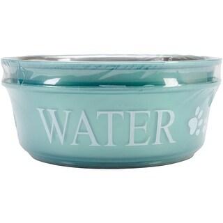 Food & Water Set Large 2qt-Teal