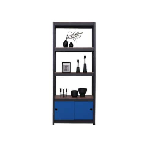 Aurora Home 4Shelf 1Door Customizable Modular Shelving and Storage