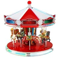 Mr. Christmas World's Fair Animated Musical Carousel Decoration #79789