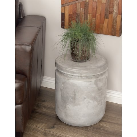 Studio 350 Fiber Clay Foot Stool 15 inches wide, 17 inches high