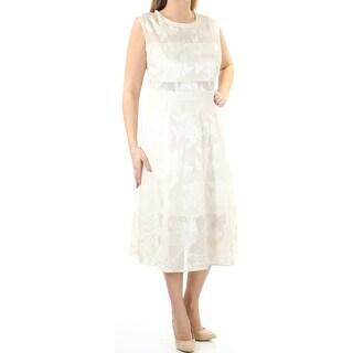 RACHEL ROY Women New 1320 Ivory Floral Jewel Neck Cap Sleeve Sheath Dress 14 B+B