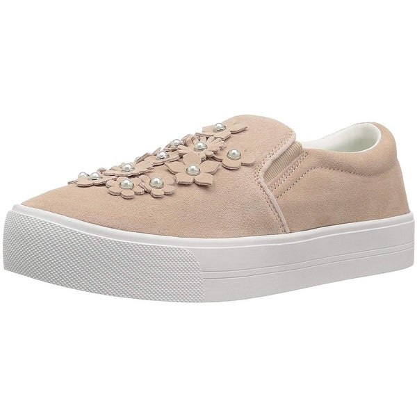 Marc Fisher Womens Dezie Suede Low Top Slip On Fashion Sneakers