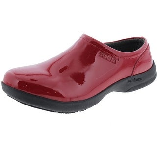 Bogs Womens Ramsey Patent Leather Slip Resistant Clogs