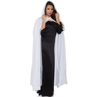 Underwraps Adult Tattered Ghost Cape (White) - Solid