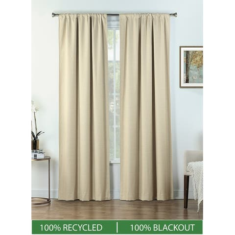 B.Smith Total Blackout Curtain Panel Pair Recycled Material