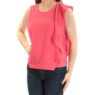 Womens Pink Sleeveless Jewel Neck Casual Top Size 0