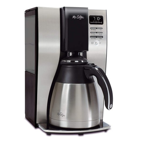 Mr. Coffee Optimal Brew 10-Cup Thermal Programmable Coffeemaker Black & Brushed Silver