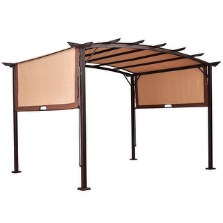 Gymax 12' x 9' Pergola Kit Metal Frame Gazebo Canopy Cover Patio Shelter