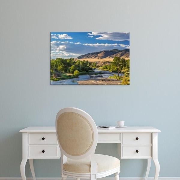 Easy Art Prints Chuck Haney's 'The Big Hole River Near Glen' Premium Canvas Art