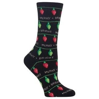 Hot Sox Women's Christmas Lights Socks