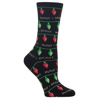 Hot Sox Women's Christmas Lights Socks
