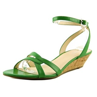 Nine West Valaria Women Open Toe Leather Green Sandals