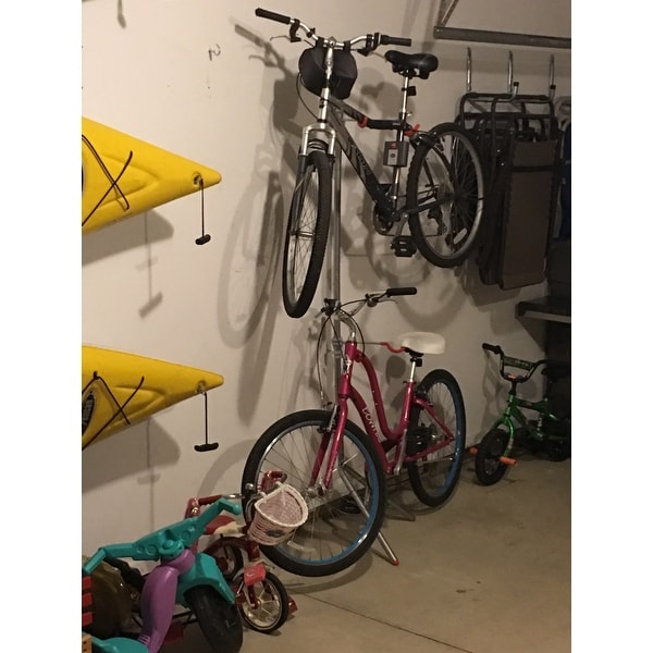 Bon Shop The Art Of Storage U0027Donatellou0027 Steel 2 Bike Leaning Bike Rack   Free  Shipping Today   Overstock.com   6415785