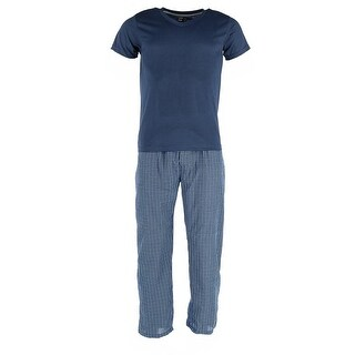 tru fit Men's Short Sleeve Tee and Pant Pajama Set