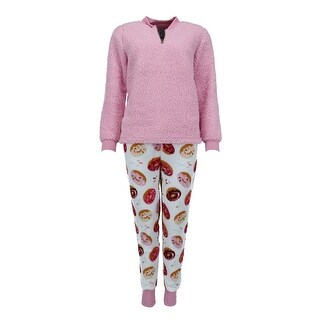 Link to PJ Couture Women's Half Zip Sherpa Top and Jogger Pant  Pajama Set Similar Items in Loungewear