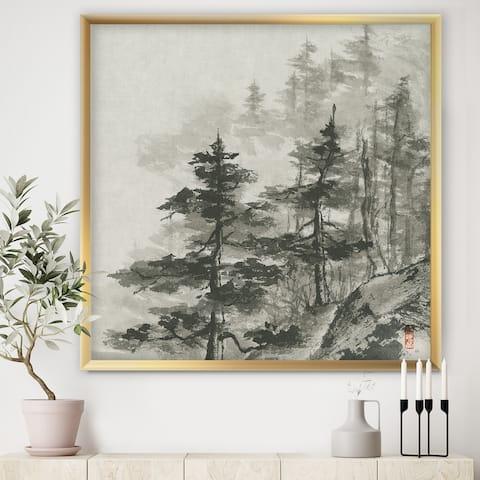 Designart 'Asian Forest' Cabin & Lodge Framed Art Print