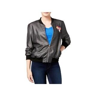 DreamWorks Womens Juniors Trolls Jacket Metallic Patchwork - M