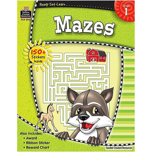 Ready Set Learn Mazes Gr 1