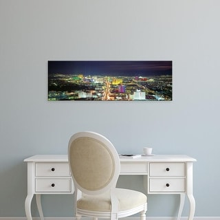 Easy Art Prints Panoramic Images's 'Skyline, Las Vegas, Nevada, USA' Premium Canvas Art