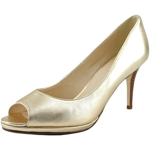 Cole Haan Davis OT. Pump.75   Open-Toe Leather  Heels
