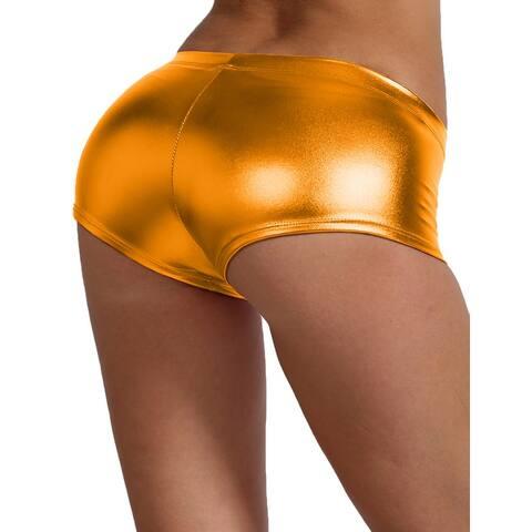 NE PEOPLE Womens Sexy Shorts Metallic Hot Pants Made In USA [NEWP40]