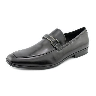 Kenneth Cole NY Take Me Home Men  Apron Toe Leather Black Loafer