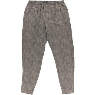 Eileen Fisher Womens Silk Slouchy Fit Pants