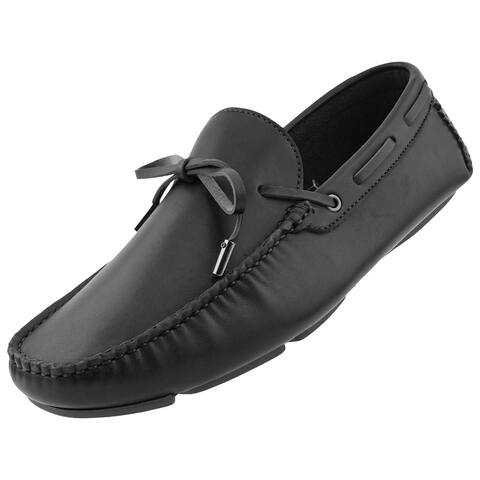 Amali Huber Mens Moccasins with String Ornament