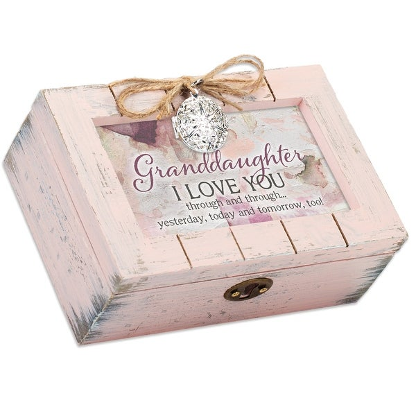 """6"""" Pink Granddaughter Quotes Remembrance Box - N/A"""