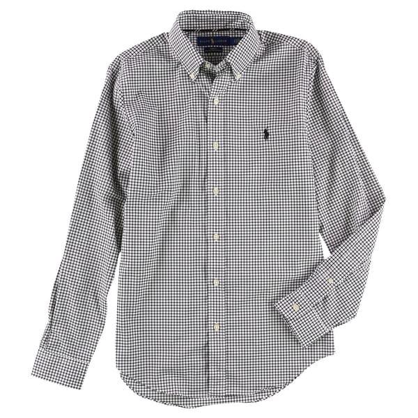 6a42380653 Shop Ralph Lauren NEW Black White Mens Size 2XL Button Down Plaid Shirt - Free  Shipping Today - Overstock.com - 21932932