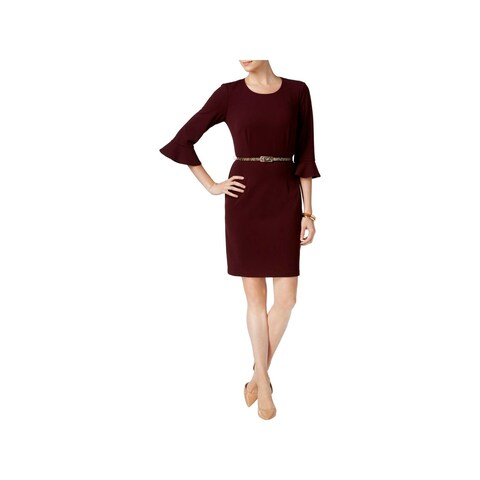 Connected Apparel Womens Wear to Work Dress Crepe Bell Sleeves