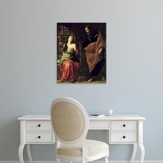 Easy Art Prints Pietro Novelli's 'Saint Peter and Saint Agatha' Premium Canvas Art
