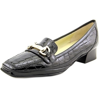 Amalfi By Rangoni Malta Women Round Toe Patent Leather Black Loafer