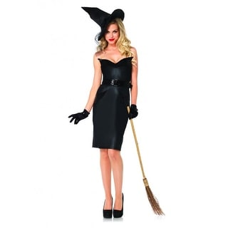 Vintage Witch Adult Costume - Black