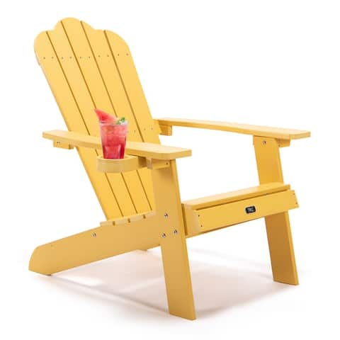 Adirondack Chair, Oversized Patio Chair, Outdoor Lounger Lawn Chair, Perfect for Outdoor, Porch, Deck, Garden, and Lawn