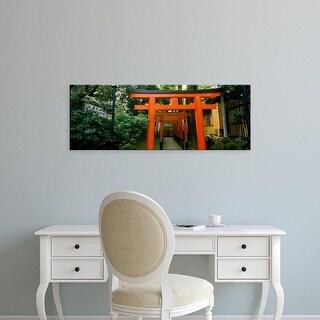 Easy Art Prints Panoramic Image 'Torii Gates, Ueno Park, Taito, Tokyo Prefecture, Kanto Region, Japan' Canvas Art