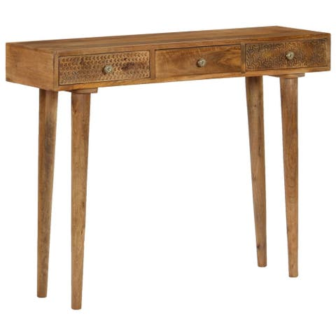 "vidaXL Console Table Solid Mango Wood 40.2""x11.8""x31.1"""