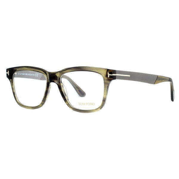 8ddb940dbb5 Tom Ford TF 5372 098 Clear Olive Havana Gray Unisex Eyeglasses 52mm - clear  olive