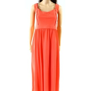Badgley Mischka NEW Coral Orange Womens Size 4 Penelope Maxi Dress