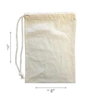 MuslinBag8x12-Pack50 100 Percent Cotton Durable Drawstring Muslin
