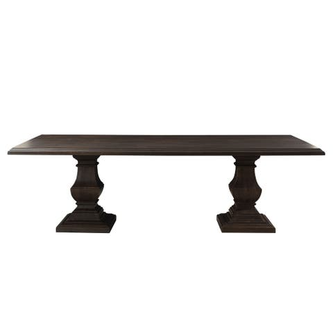 Toulon Vintage Brown Rectangle Dining Table