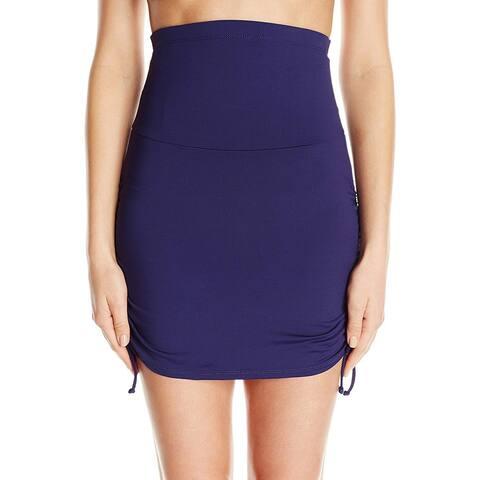Anne Cole Blue Women's Size Medium M Swim Skirt Side-Tied Swimwear